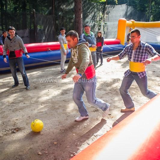 Аренда аттракциона Футбол Кикер Надувной на спортивный праздник