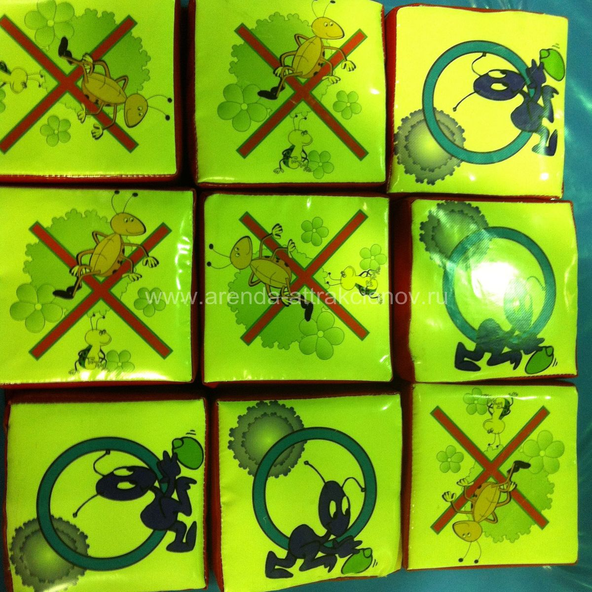 Крестики Нолики для аттракциона Мягкие головоломки