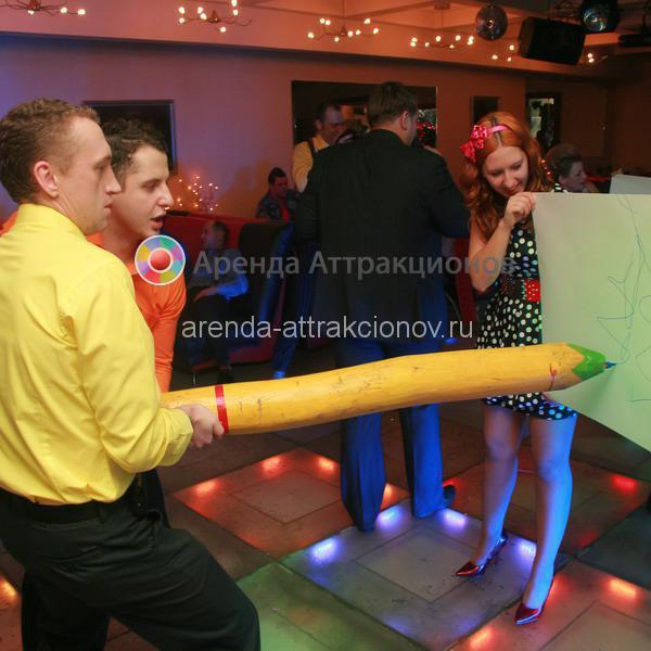 Мега карандаш прокат на праздник