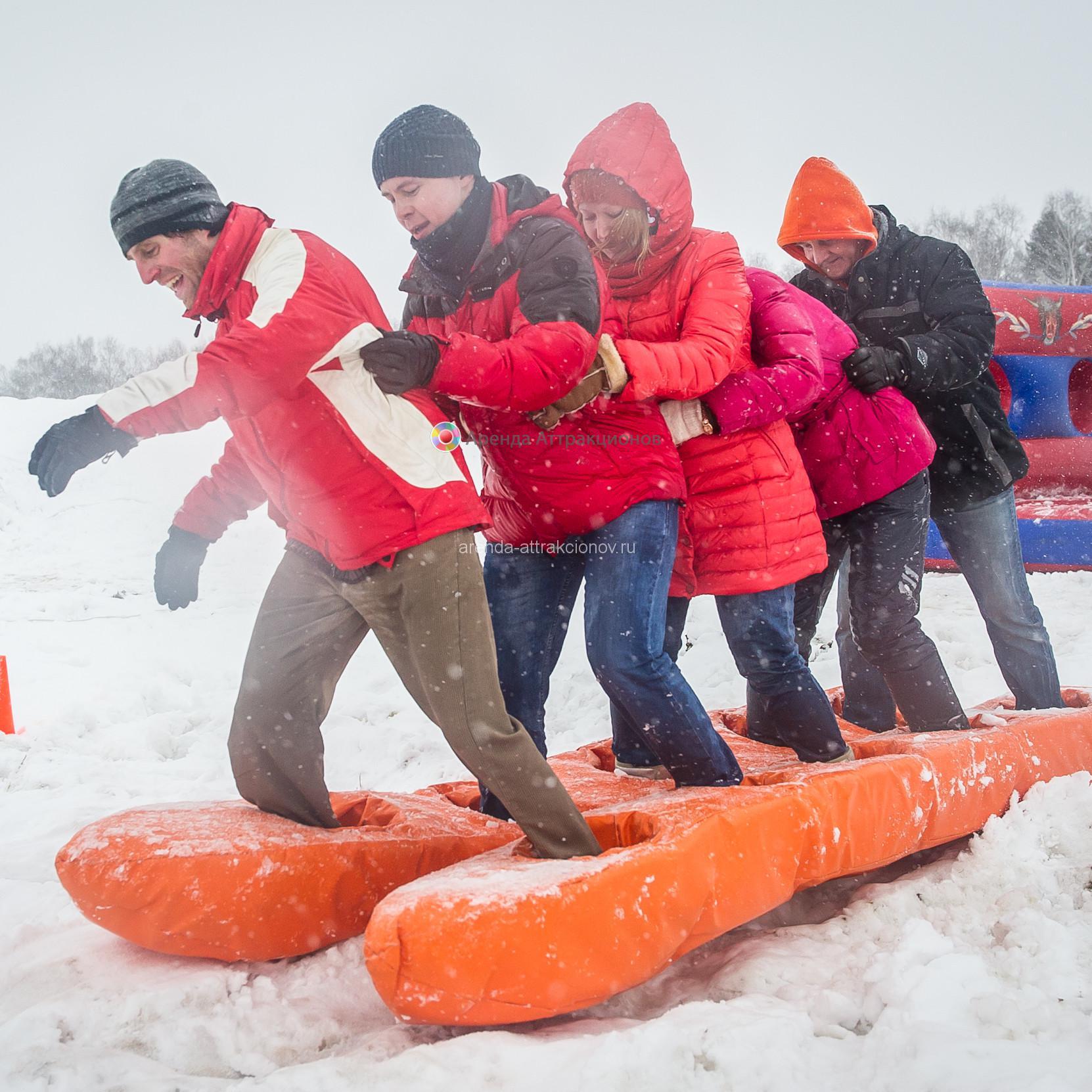 Аренда аттракциона для соревнований Лыжи Командные