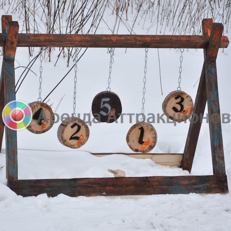 Аттракцион Тир Деревянный на мероприятии в парке.