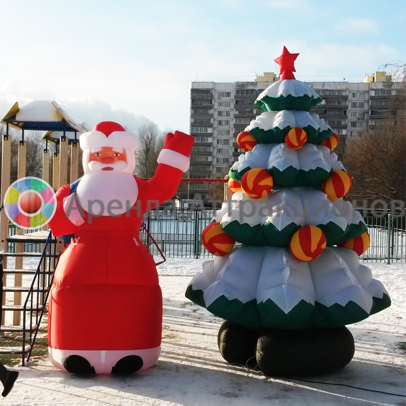 Надувная пневмофигуры Дед Мороз на мероприятие
