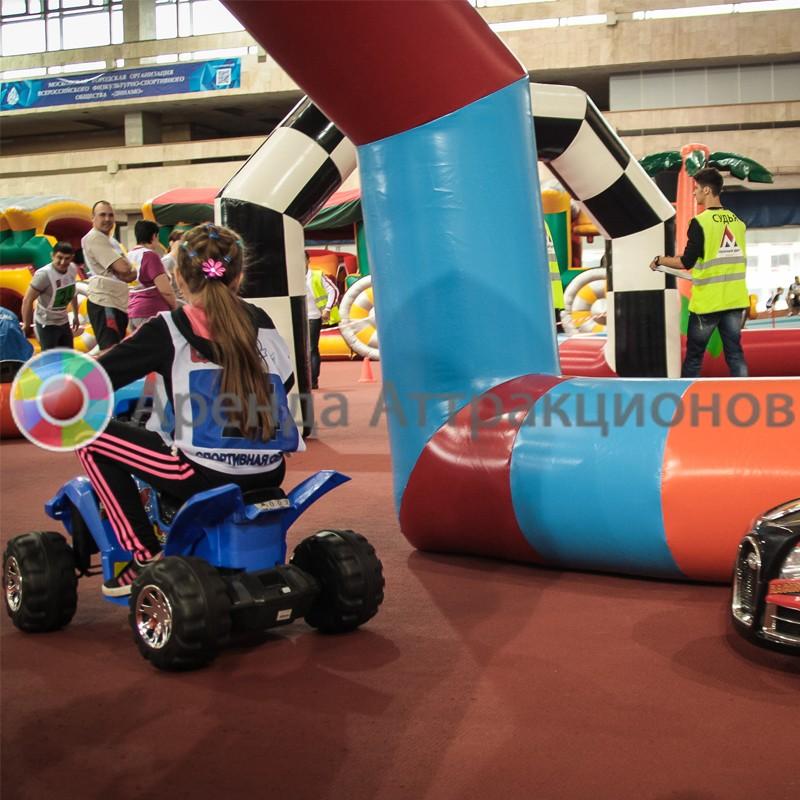Надувной автодром для детских Электромобилей