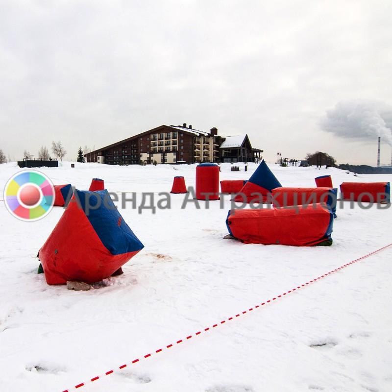 Аренда аттракциона Снежная битва