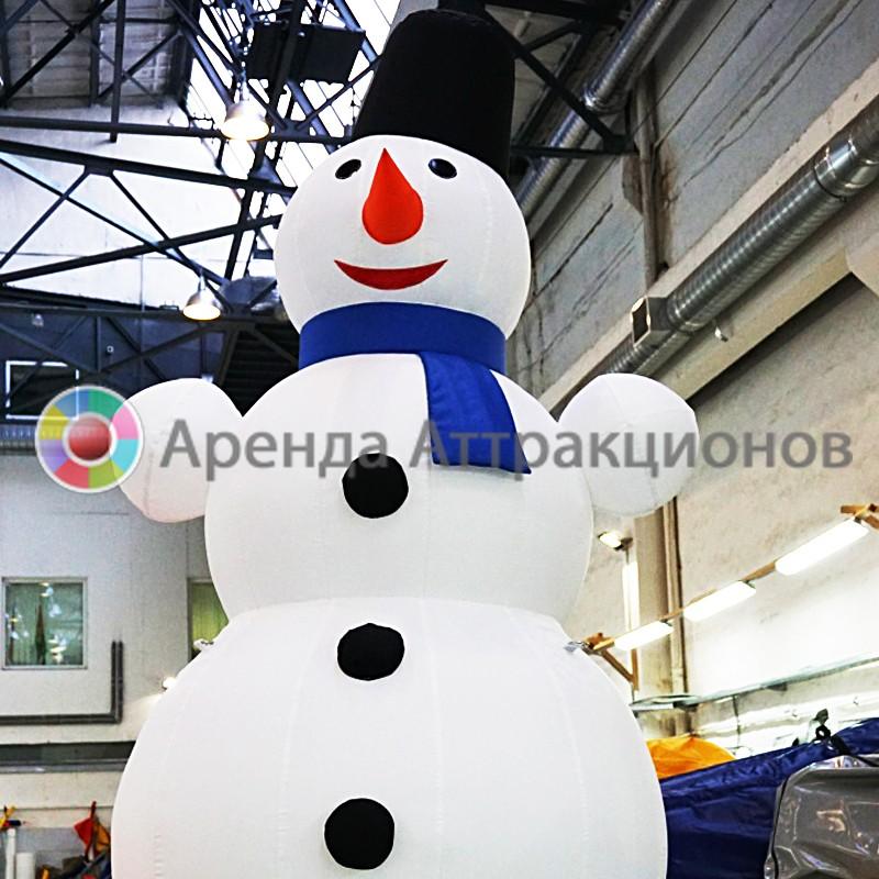 Снеговик надувной в аренду на мероприятие