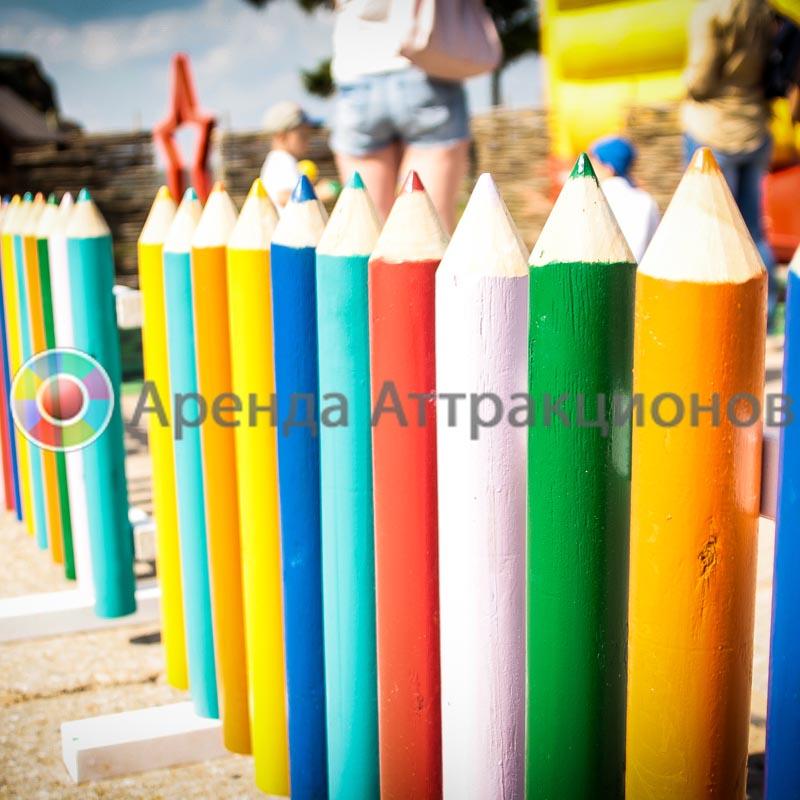 Забор карандаши в аренду