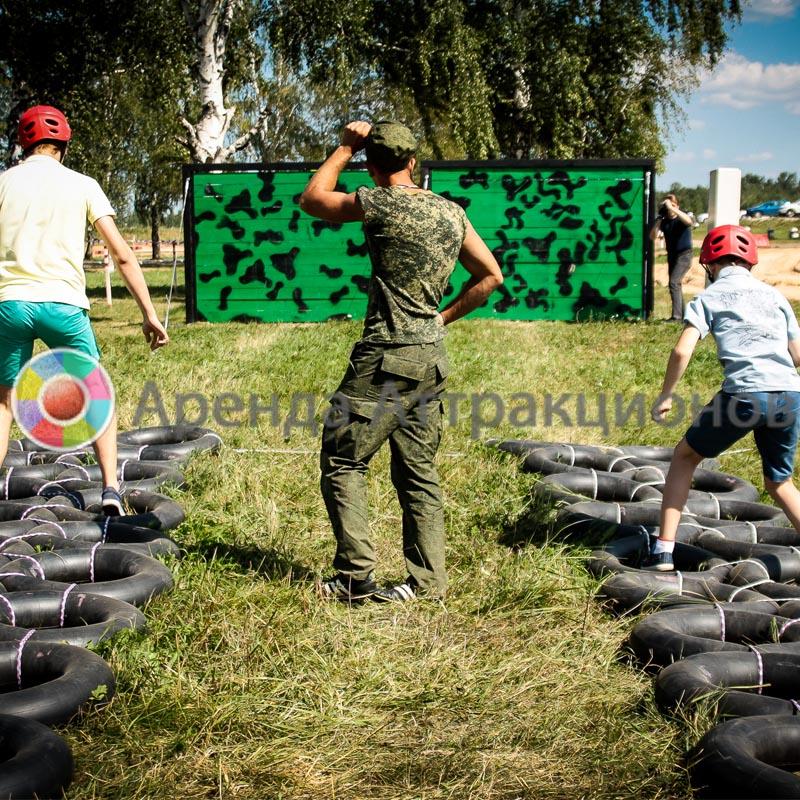 Аттракцион Шины для армейской полосы препятствий