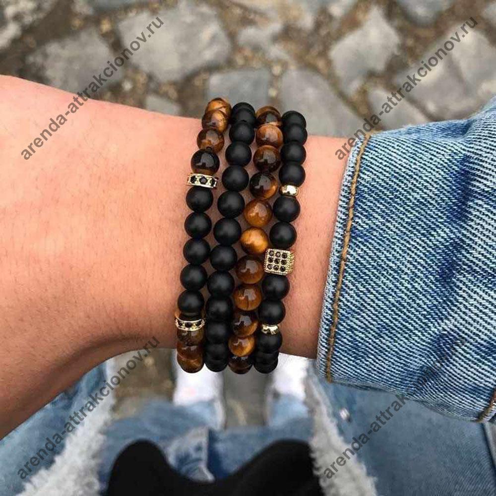 мужские браслеты из бусин своими руками