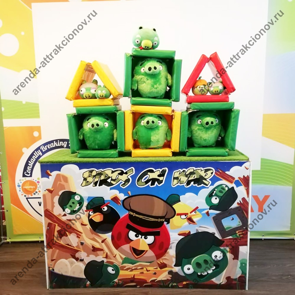 Аренда аттракциона Angry Birds Military