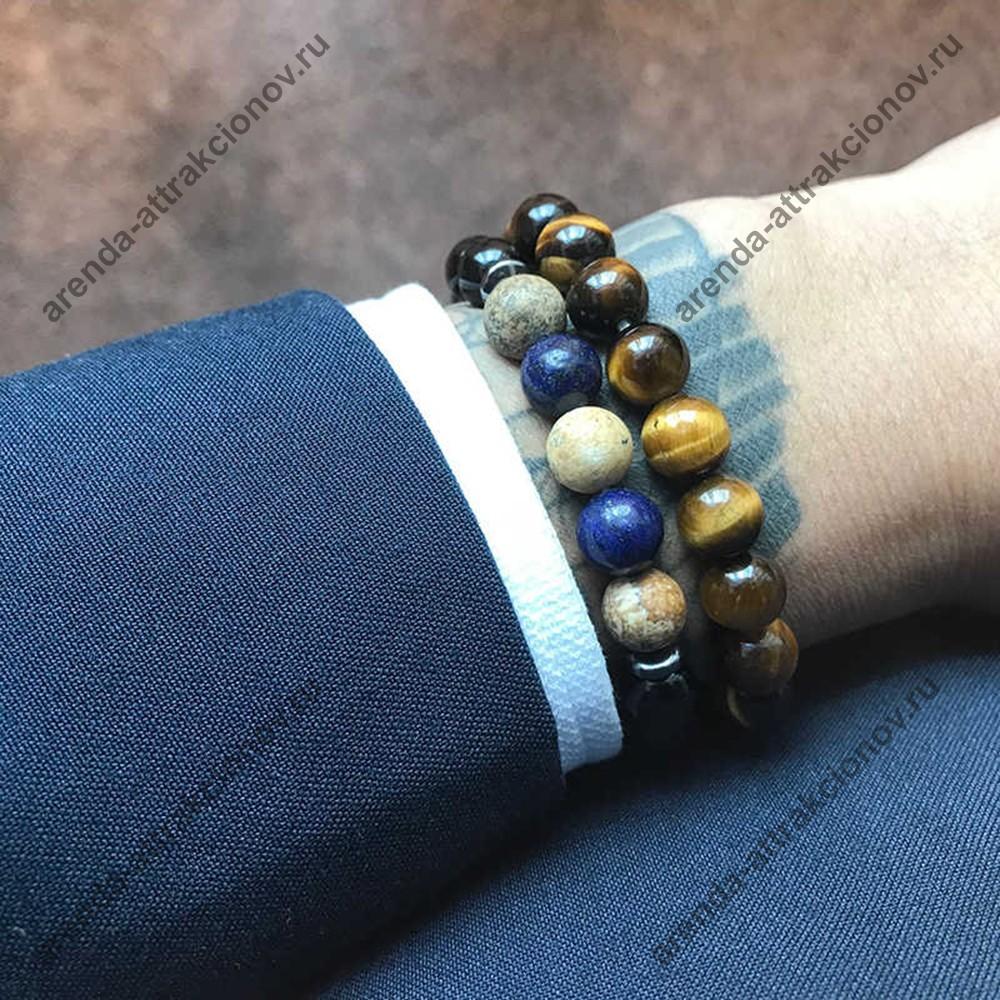 мужские браслеты из бусин к 23 февраля