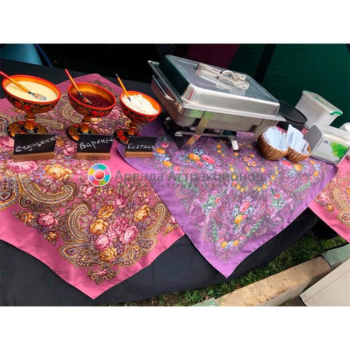 украшение платками стола для 8 человек