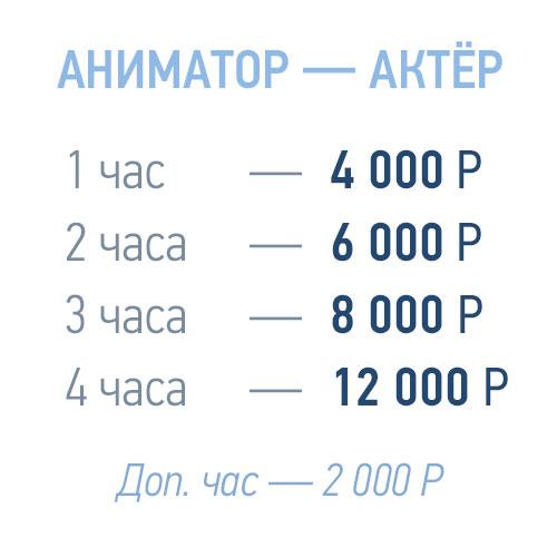 прайс-лист аниматора для квадрокоптера