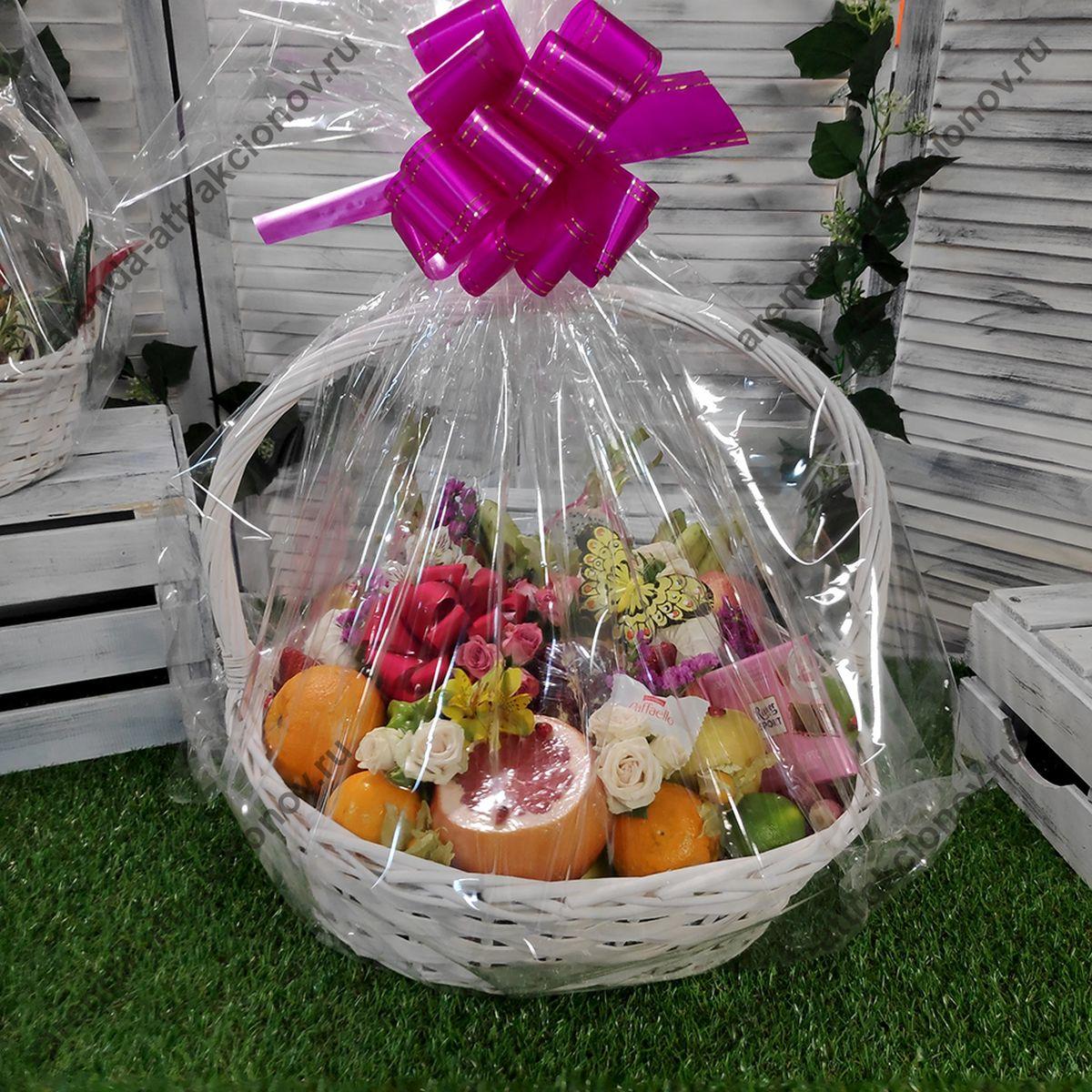 букеты из фруктов и цветов