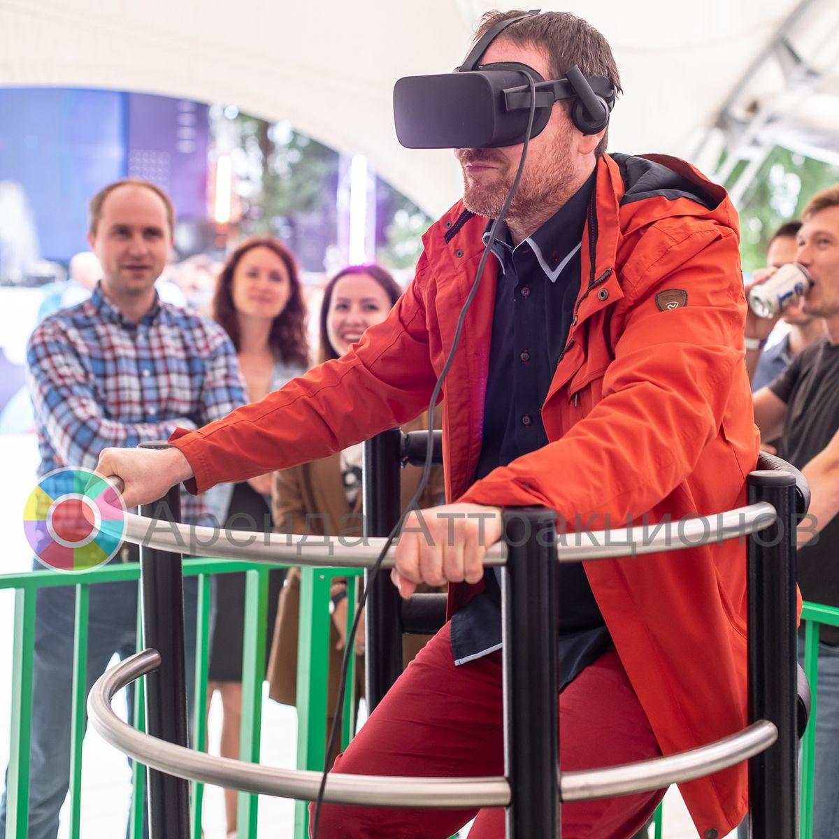 VR платформа с гостем