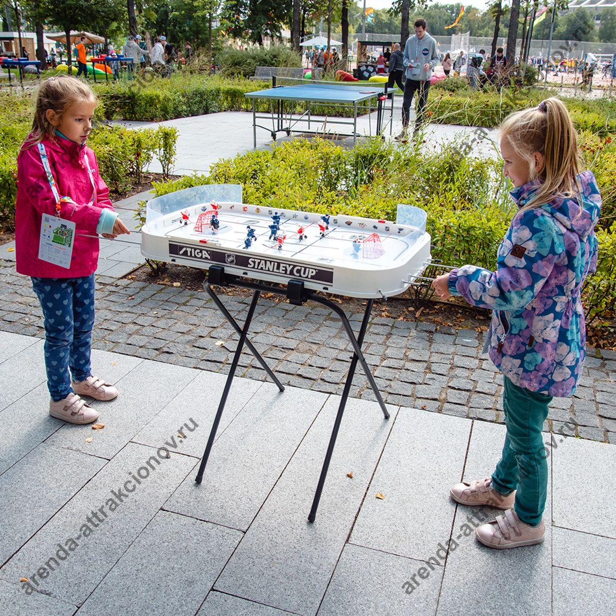 Аренда игры настольный хоккей на мероприятие в Москве и МО