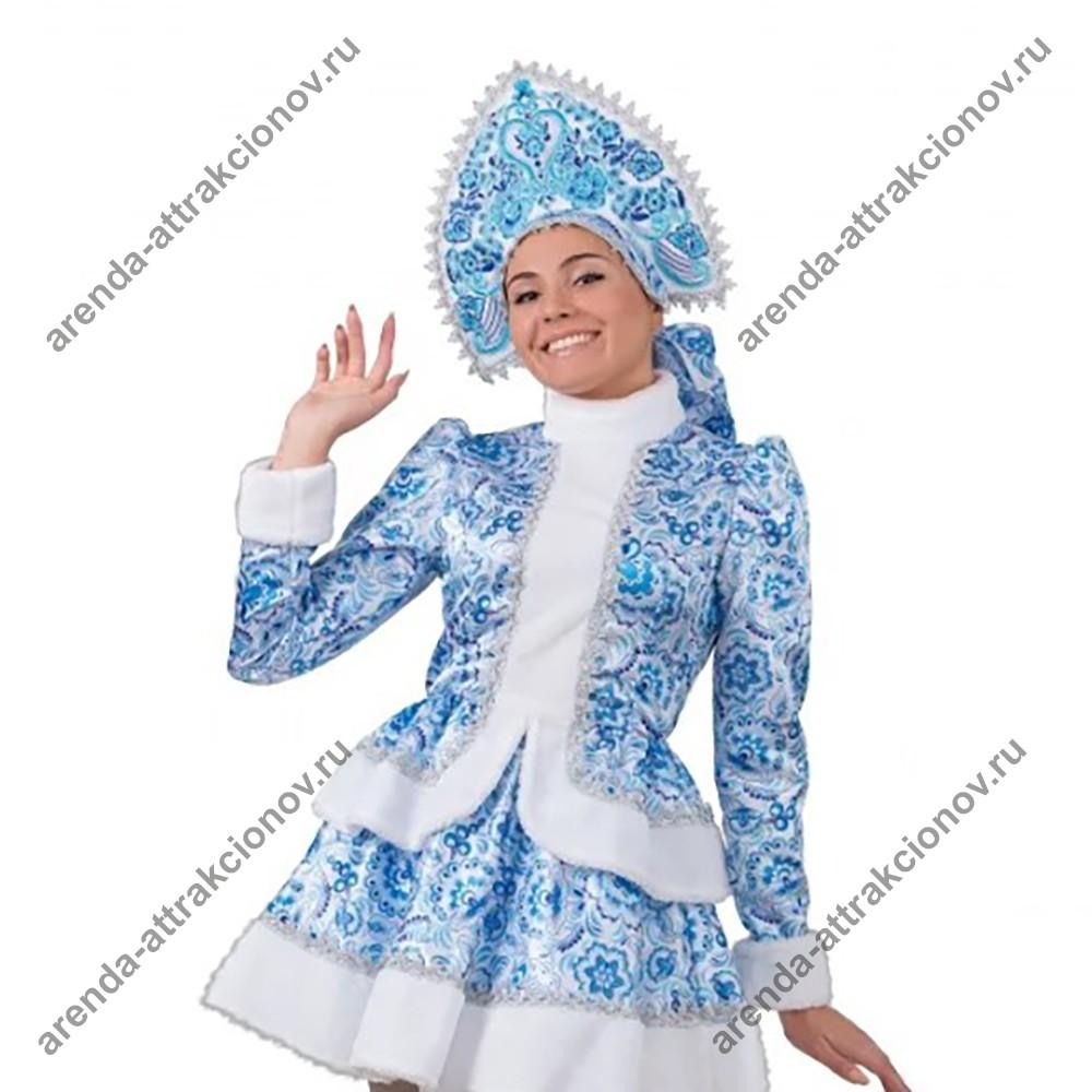 Аниматор в костюме Снегурочки