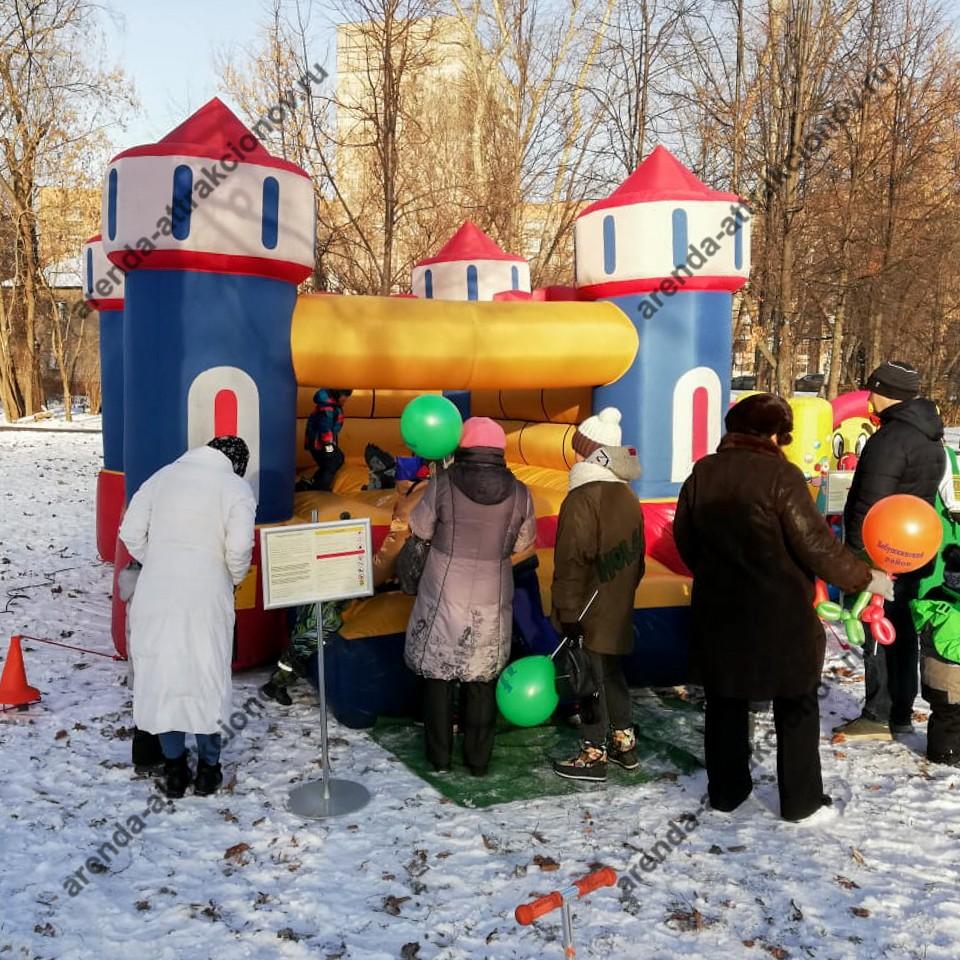 Надувной замок на детский праздник