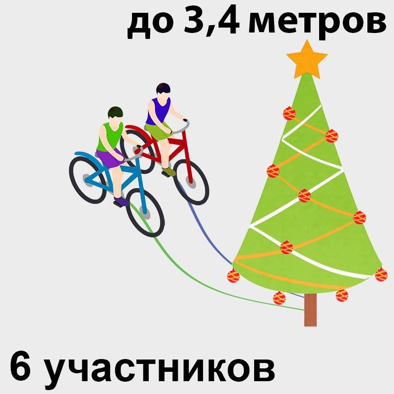 Аренда аттракциона с велосипадами на новый год