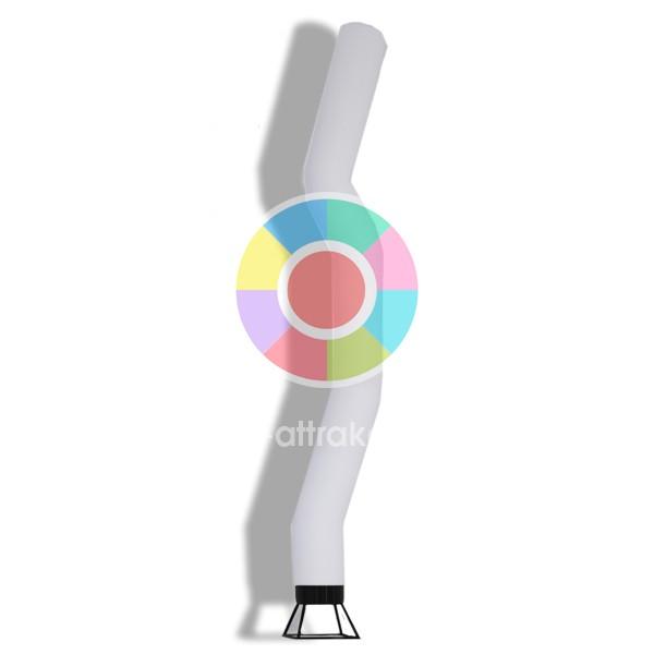Танцующая труба белого цвета