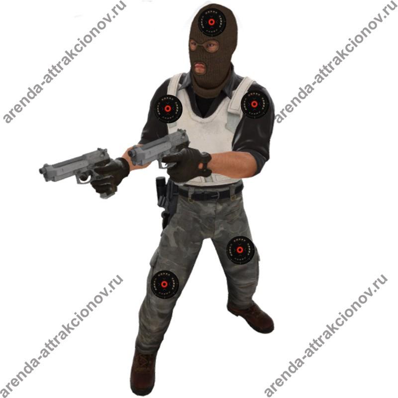 Лазерный тир с персонажами Counter Strike