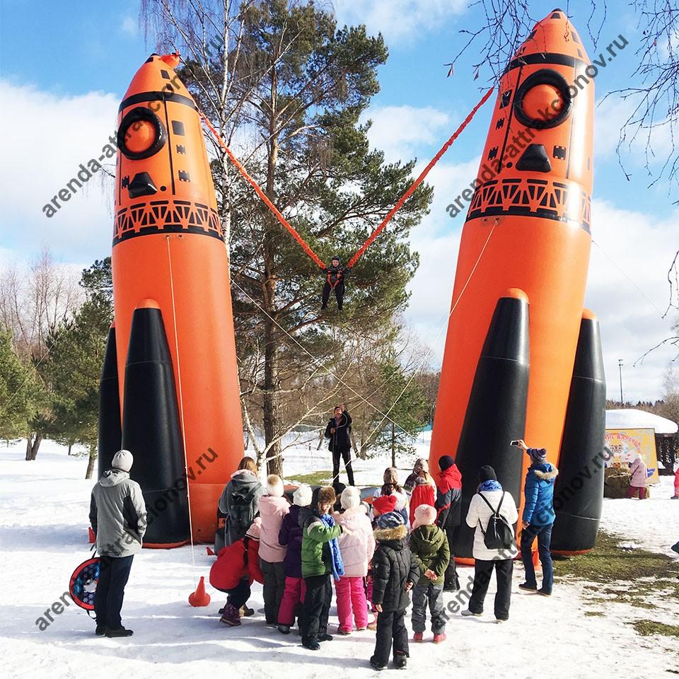 Банджи космическая ракета в аренду для праздника