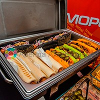 цветные булочки для хот догов