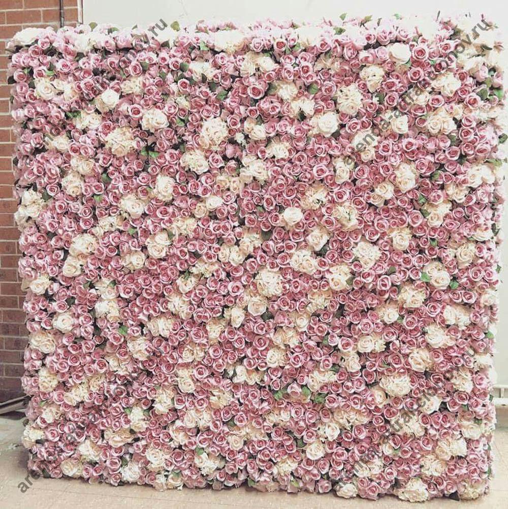 Стена из цветов