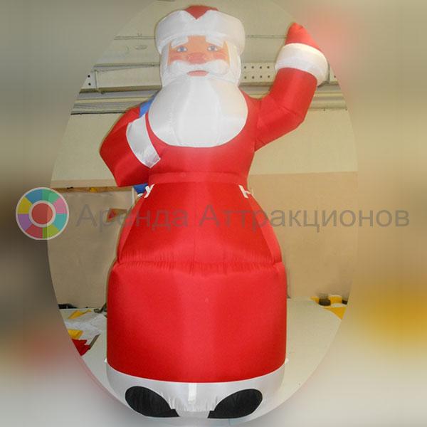 Аренда надувной декорации Дед Мороз
