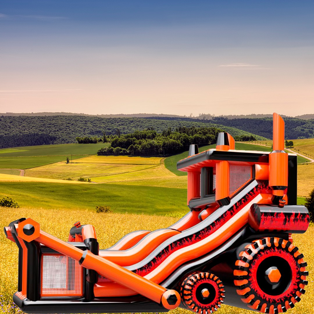 Батут Трактор для мероприятий на воздухе