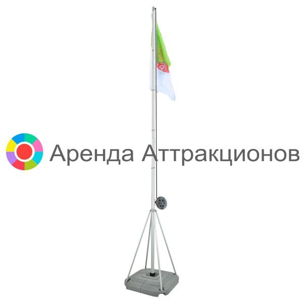 Флагшток с подъемным механизмом