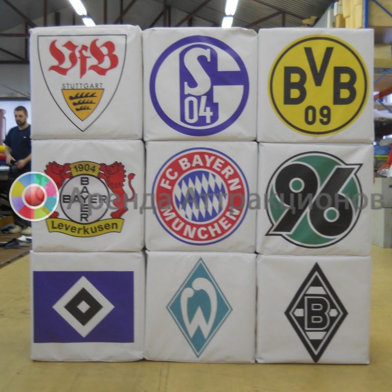 Фотокубики Футбольные клубы в аренду на мероприятие