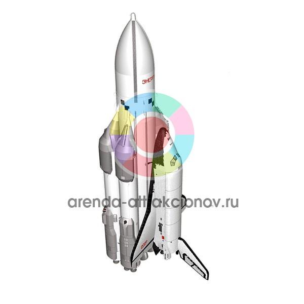 Модель корабля Буран для космической фотозоны