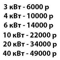 Цены на генератор