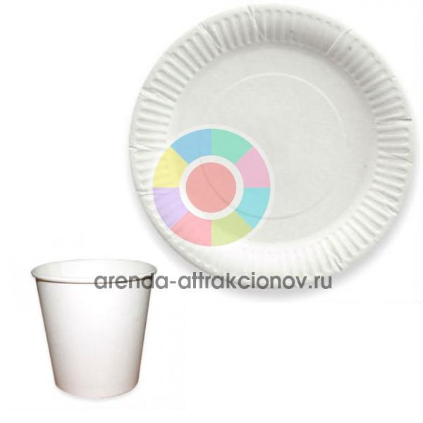 Посуда картонная для еды с армейского котла