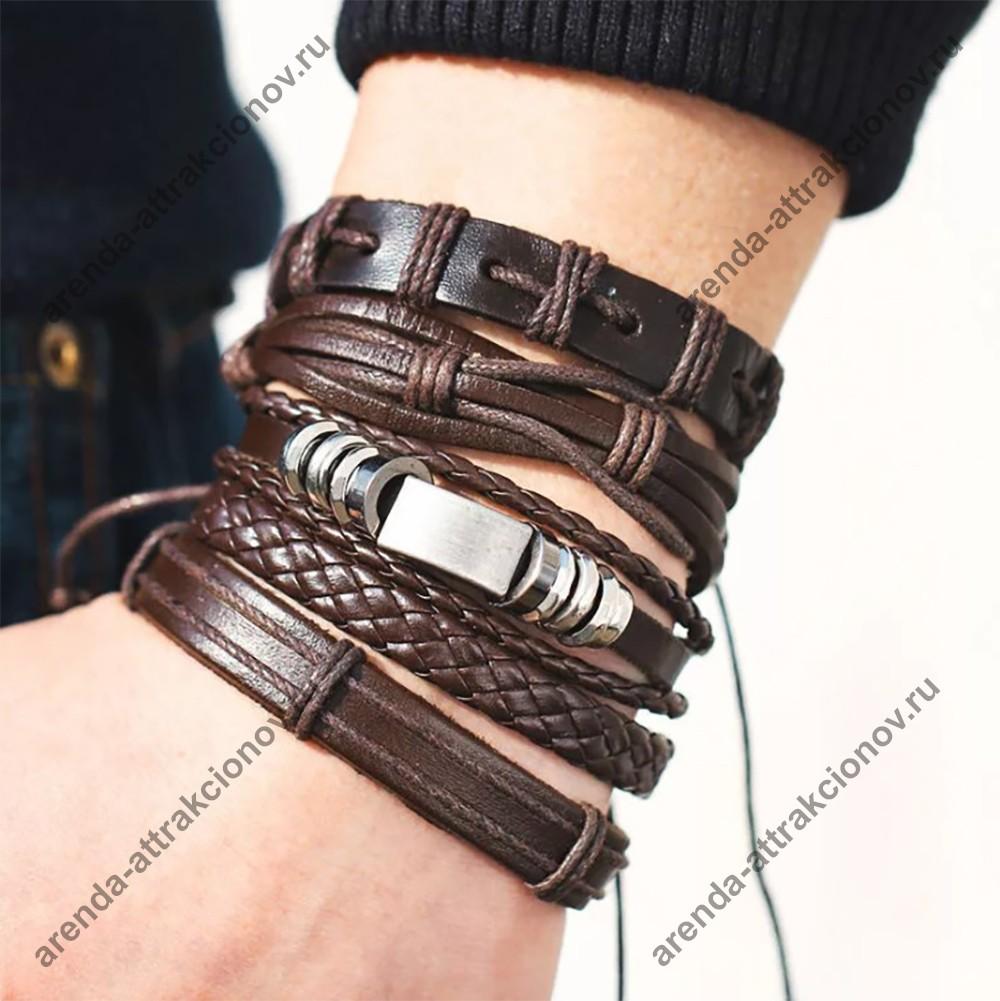 мужские браслеты из кожи ко Дню Защитника Отечества