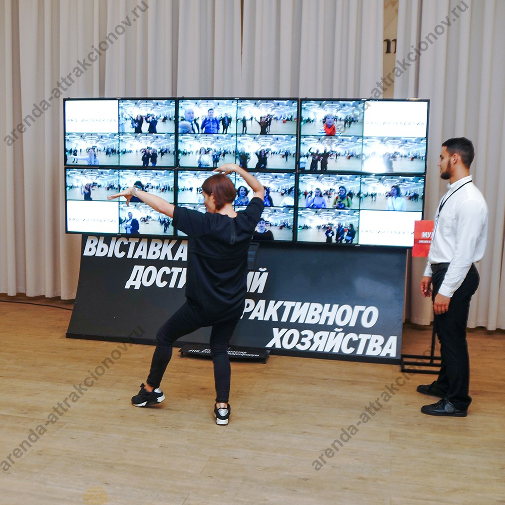 Аренда интерактивной стены Мультиэхо на корпоративной праздник
