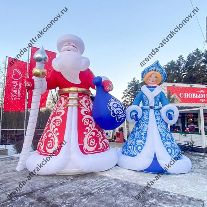 Аренда надувной декорации Снегурочка