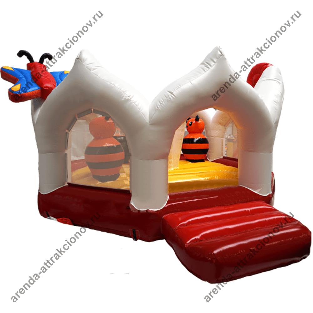 Детский батут поляна с бабочками