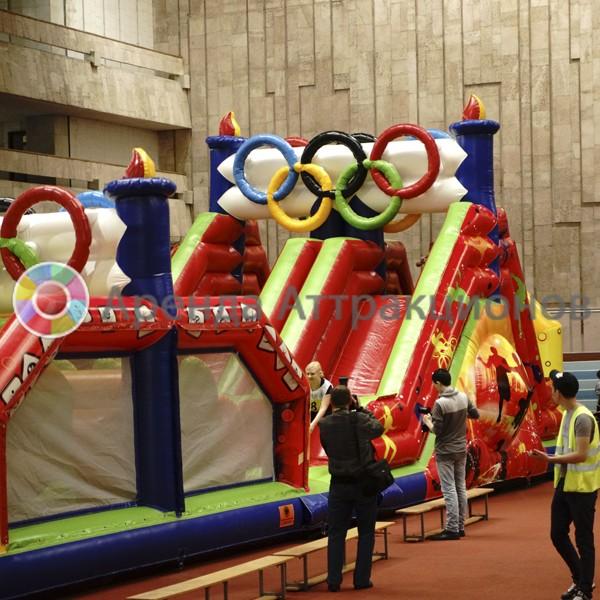 Полоса препятствий Олимпийские кольца в аренду на большую площадку