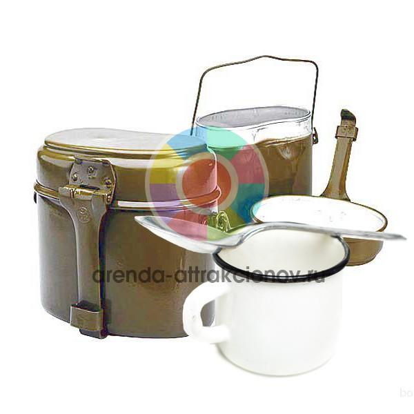 Армейская посуда в аренду на мероприятие