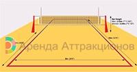 Разметка поля схематично для командного волейбола