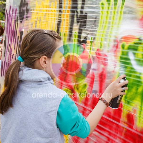 Стена граффити в аренду на мероприятие