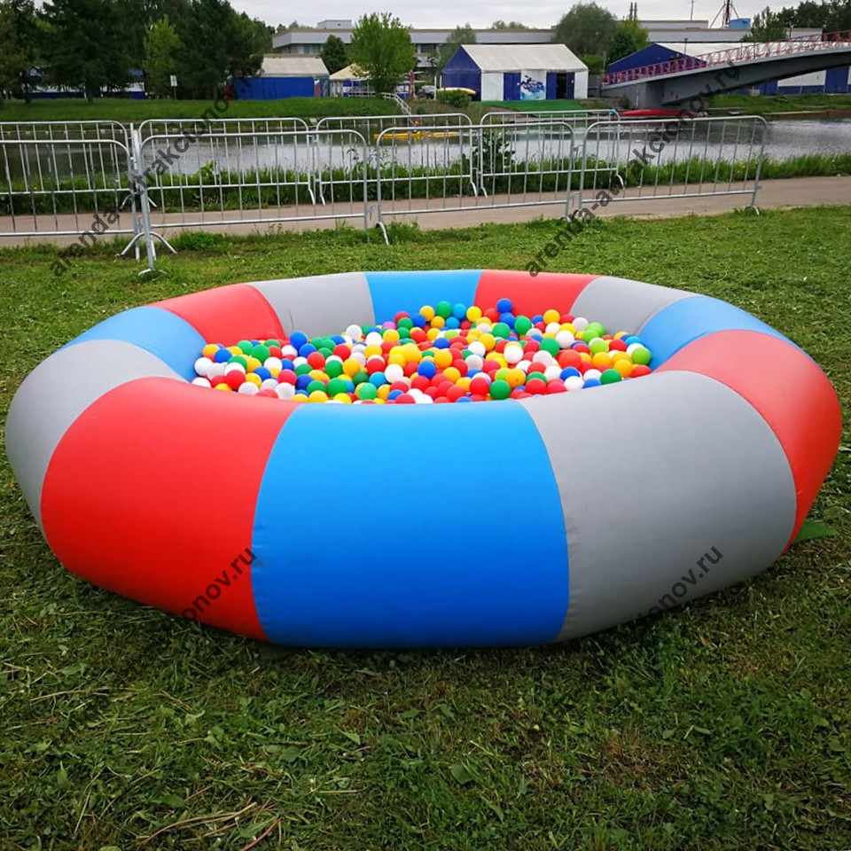 Круглый бассейн с шариками в аренду