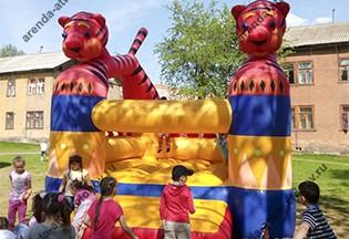 батут тигрята