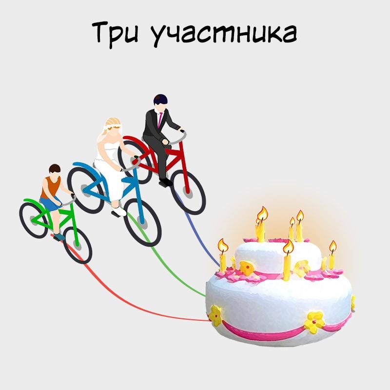 велоторт для дней рождения