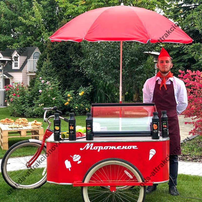 Велотележка с мороженым