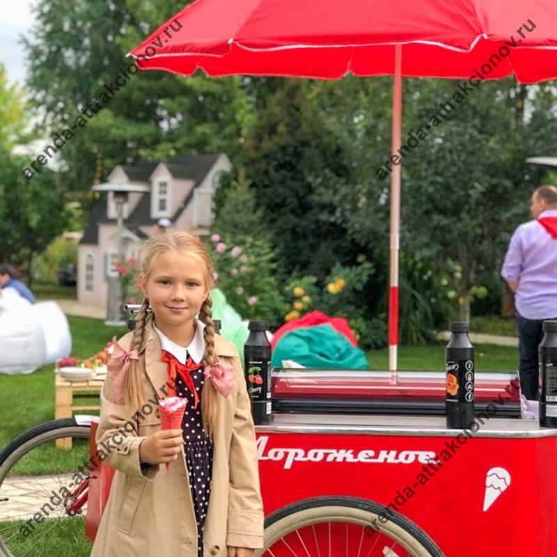 Заказать велотележку с мороженым в аренду на мероприятие для организации питания