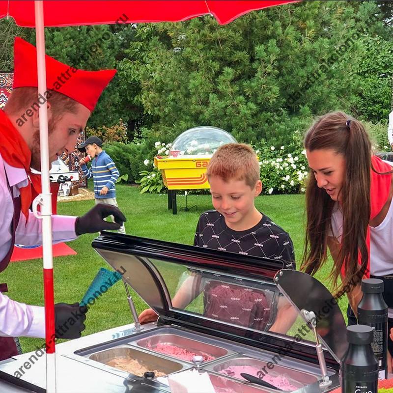 Велотележка с мороженым в аренду на мероприятие для организации кейтеринга