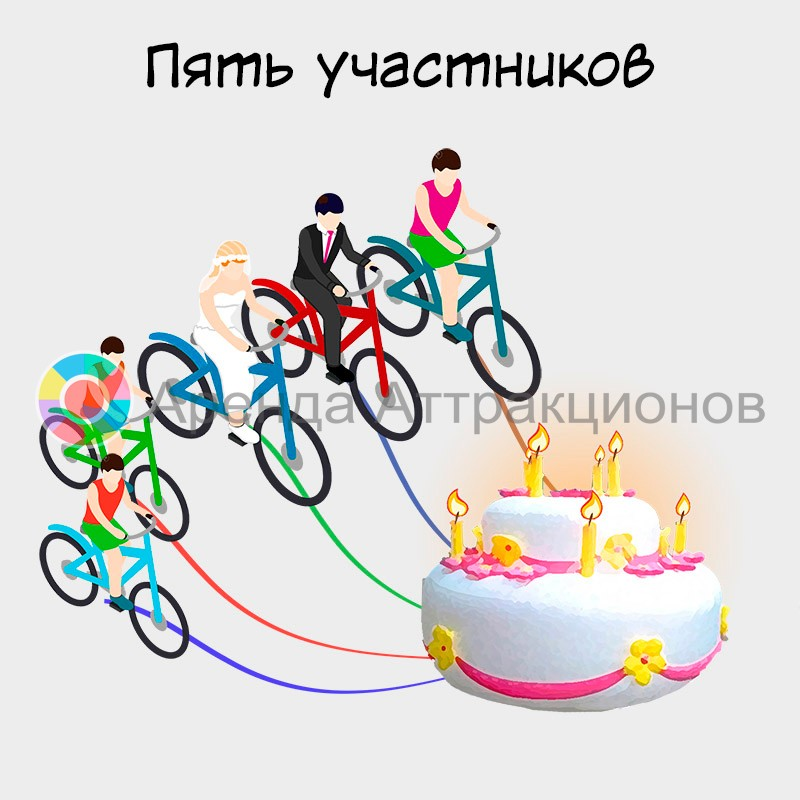 Велоторт в аренду по Москве