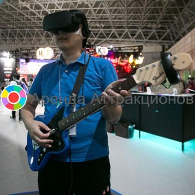 Аренда очков виртуальной реальности с игрой Guitar Hero VR